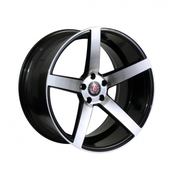 AXE Wheels - EX18 Gloss Black / Silver Polished Face (18 inch)